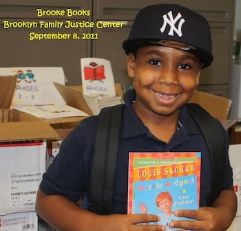 Brooke's Books supporting a young reader